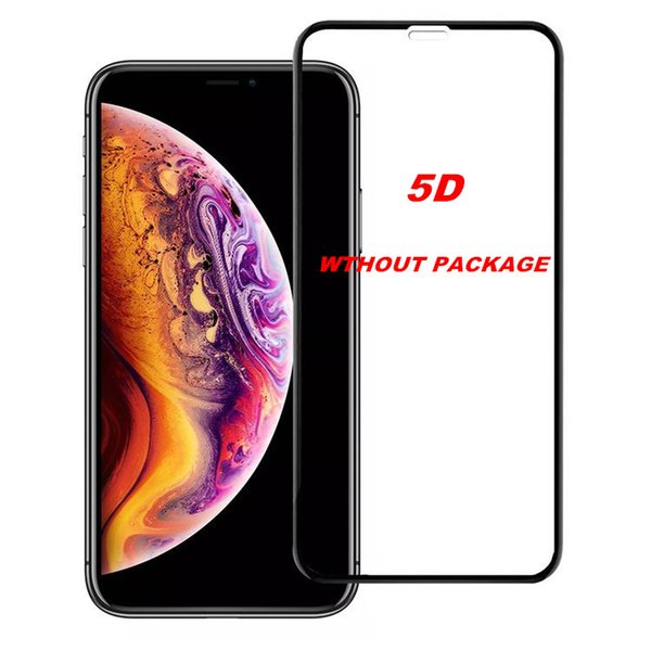 5D Curved Full Cover Tempered Glass Screen Protector For Iphone X XR XS MAX Cover Film 3D Edge Screen For Iphone X 7 8 Plus No package