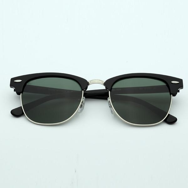 901 блестящий черный серебристый / стеклянная линза G15