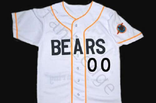 Any Size Custom Bad News Bears Any # Button Down Baseball Jersey White Baseball-other
