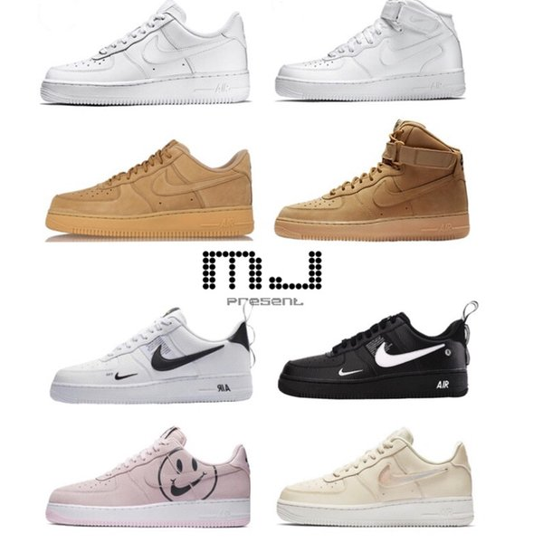 best selling New AIR 2019 FORCE 1 AF1 Volt Running Shoes Women Mens Trainers Forced One Sports Skateboard Warrior Sneakers