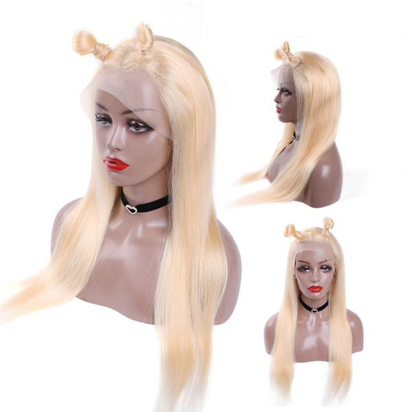 613blonde Human Hair Wigs Lace Front Brazilian Malaysian Indian straight Hair Full Lace Wig Remy Virgin Hair Lace Front Wigs For Black Women