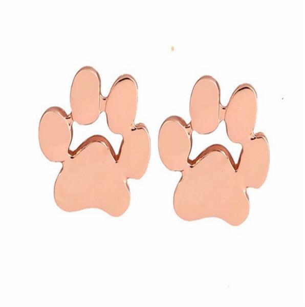 полые домашние любимцы кошка собака лапы печати лапы серьги щенок мемориал минималистский серьги милый след животного позолоченные серьги
