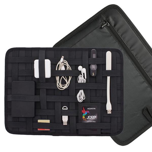 Electronic Gadget Travel Rope Elastic band Organizer Board Multipurpose Travel Bags Tote Bag for Hard Disk USB Phone Adapter