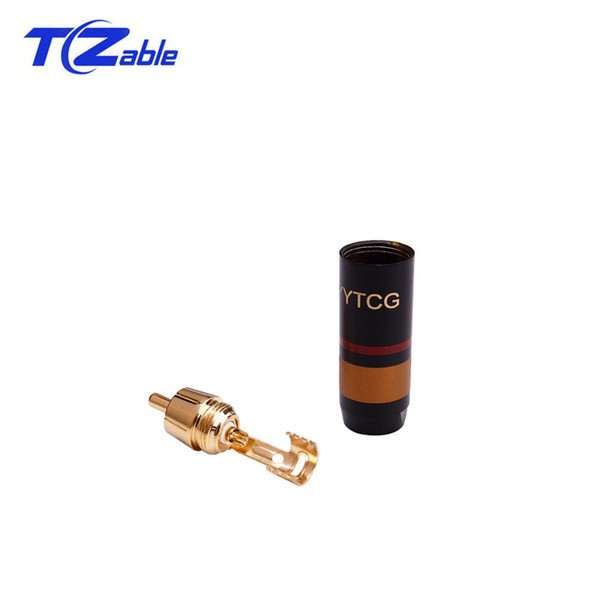 Pure Copper Gold Plated RCA Lotus Plug Fever Audio Signal Cable Plug HiFi Audio Connection Terminal Connector For Amplifier Audio Mixer