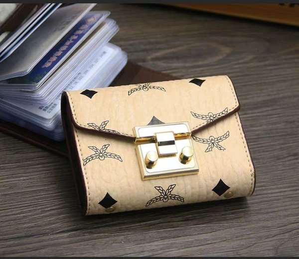 wallet bag free shipping high quality Card Holder Leather girl Card Holders Lambskin Wallet Coin purse pocket Interior Slot Pocket with box