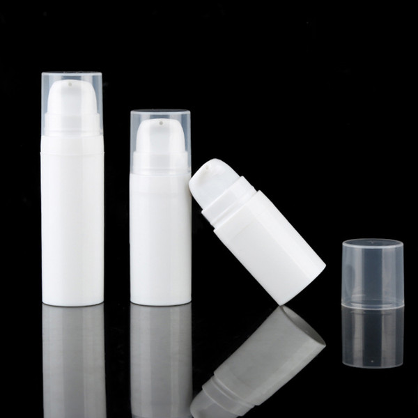 top popular 5ml 10ml White Airless Bottle Lotion Pump Mini Sample and Test Bottles Vacuum Container Cosmetic Packaging 2021