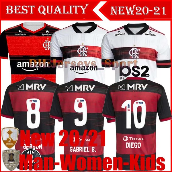 best selling 20 21 flamengo jersey GUERRERO DIEGO HENRIQUE GABRIEL sports Soccer Jerseys 2020 2021 Brazil Flamenco football adult man woman Kids shirts