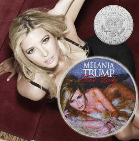 best selling 2020 Trump Coins Commemorative Melania Trump Coin American 45th President Donald Craft Souvenir Gold Silver Metal Badge Collection