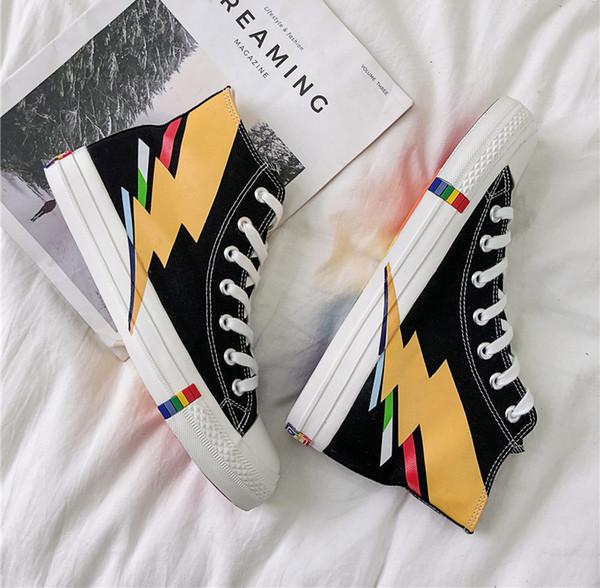 Toptan Lüks Tasarımcı Sneaker spor ayakkabı Womens Moda Günlük Ayakkabılar Yüksek Üst Kalite Erkek Ayakkabı B102652J