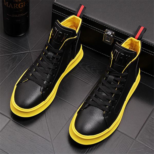 Nuevas zapatillas de deporte superiores de los hombres zapatos casuales con cordones de los hombres de la moda zapatos zapatos Hombre 20D50