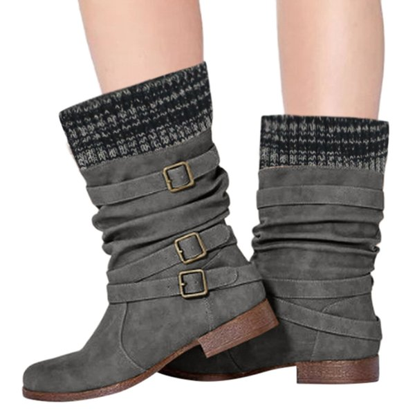 sagace winter classic buckle strap ankle boots para mulheres women ladies round toe ankle boots casual short