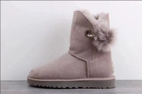Waterproof Australia Classic WGG women winter boots chestnut black grey pink designer womens snow boots ankle knee boot size 5-10