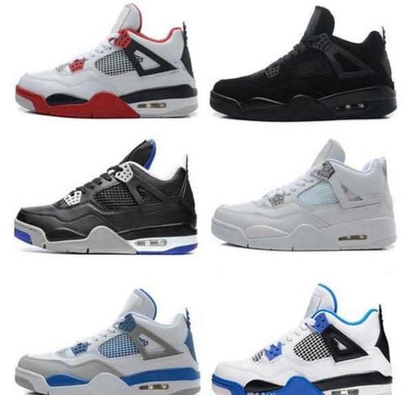 Hochwertige Designer 4 New 4s Basketball Schuhe Herren Geld Royalty White Cement Premium Schwarz Bred Fire Red Herren Sport Turnschuhe