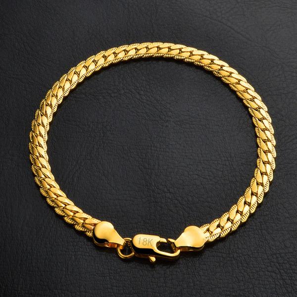Design de moda da Cor do Ouro Mulheres Perfume Pulseiras Corrente Elo Da Cadeia de Pulseras Mujer Charme K3501