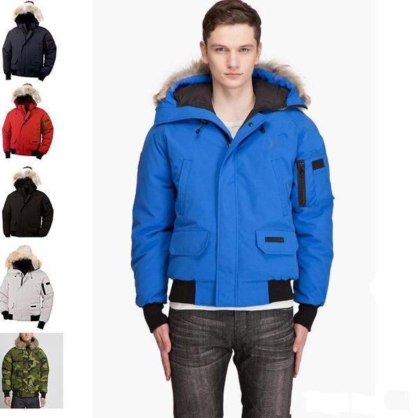 ceket yaka aşağı ceket ceket eksi Kanada gerçek kurt kürk aşağı Sıcak satış üst marka erkek açık erkekler kış rahat yürüyüş kaldırabilirsiniz