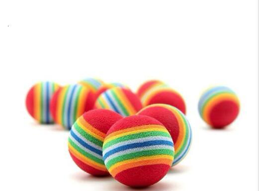 best selling Diameter pet toy 35mm interesting Pet Toy dog and cat Toys Super cute Rainbow Ball Cartoon plush toy