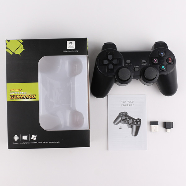 top popular TGZ-706W 2.4GHz Wireless Controller for smart Joystick Gamepad smart Game Controller for Sony Play Station With box Packaging 2020
