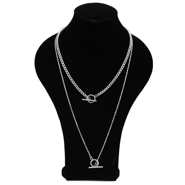 Idol star with the neck necklace Men and women short necklace personality long chain short neck chain stainless steel