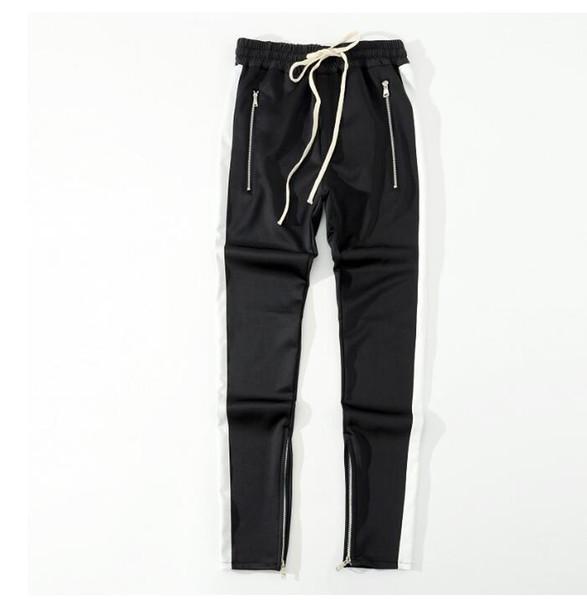 La crainte de Dieu Fog Justin Bieber Side Zipper Sweatpants Casual Hommes Hiphop Pantalons Jogger piste Sportwear S -Xxl2020
