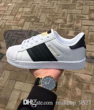 the best attitude 667e9 75b1e Low Prcie Men Women Flat Bottom Plate Direct Selling Business Colors  Superstar Shoes Leather Casual Shoes Couple Shoes Work Shoes Sneakers Shoes  From ...