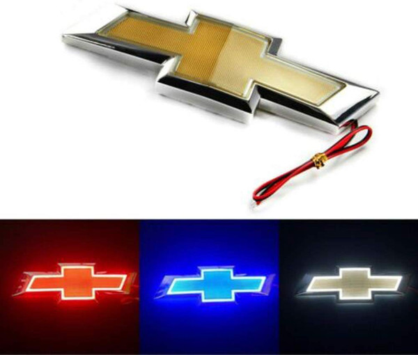 best selling 5D LED Car Tail Logo Light Badge Lamp Emblem For Chevrolet Holden Cruze Malibu EPICA CAPTIVA AVEO LOVR Fit for all Chevrolet