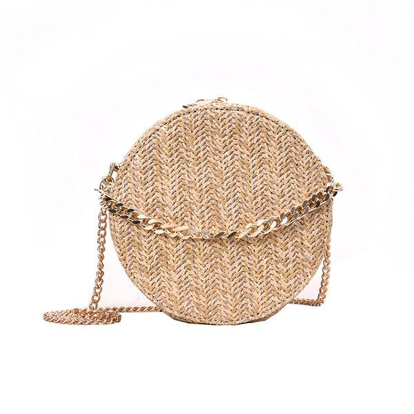 OCARDIAN Сумочка Летняя женская сумка с кисточкой Weave Bag Женские цепочки на плечо Повседневная круглая стильная льняная сумкаDropship May16