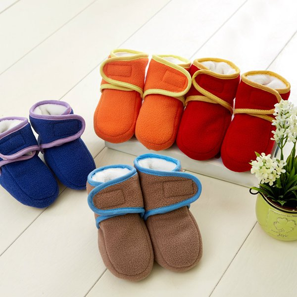 Hot Selling 1 Pair Baby Boys Girls Warm Boots Infant Learning Walking Shoes for Autumn Winter