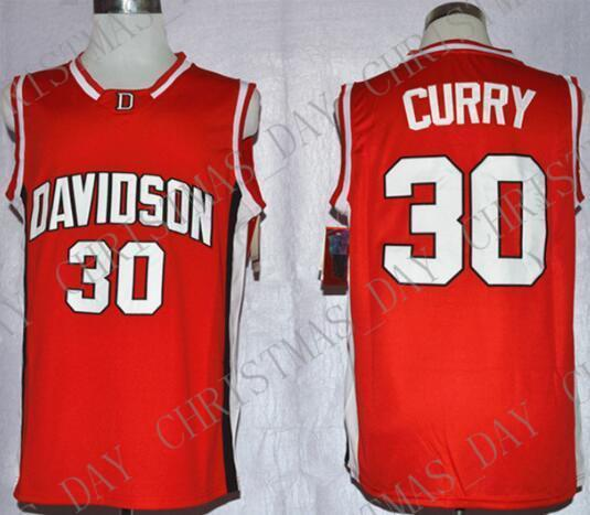 Cheap custom Steph Curry 30 Davidson College Wildcat Sewn Basketball Jersey Shirt Stitched Customize any name number MEN WOMEN YOUTH JERSEY