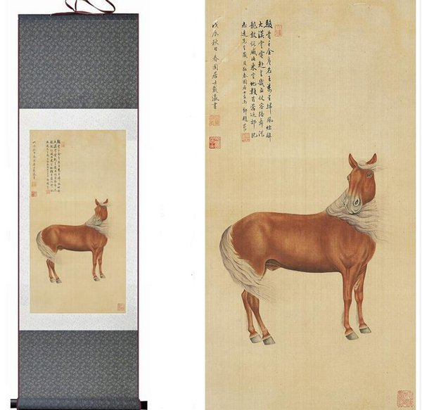 Top Quality Chinese Traditional Art, Chinese Painting, Decorative Painting, Home Office Horse Image