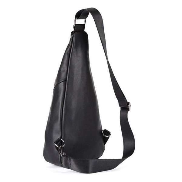 Men High Quality PU Leather Fashion Tide Sling Chest Bag Travel Leisure Crossbody Shoulder Pack New