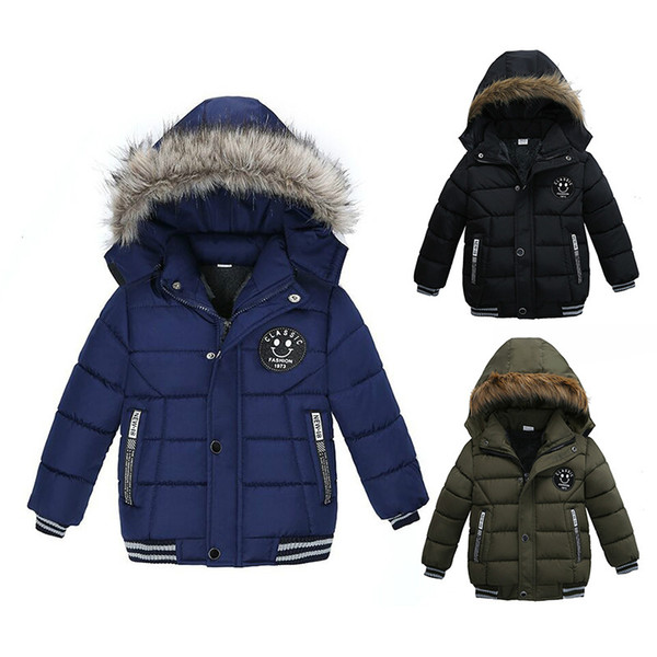 best selling Duck Down Jacket Kids Boy Winter Snowsuit Long Sleeve Thick Fur Collar Hooded Boys Clothing Outerwear Coats