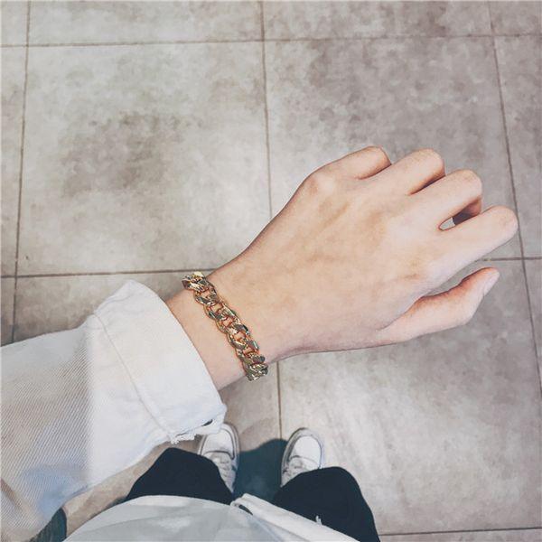 Nizza nuova catena in acciaio inox Bracciali Mens Fashion Designer braccialetti ramo di oliva semplice braccialetto regalo di natale