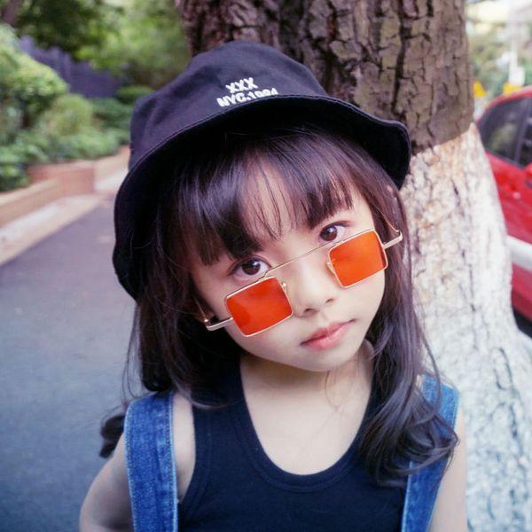 Zilead Punk Baby Small Frame Square Sunglasses Kids Metal UV400 Sun Glasses Children Eyewear Glasses For Girls&Boys Gift