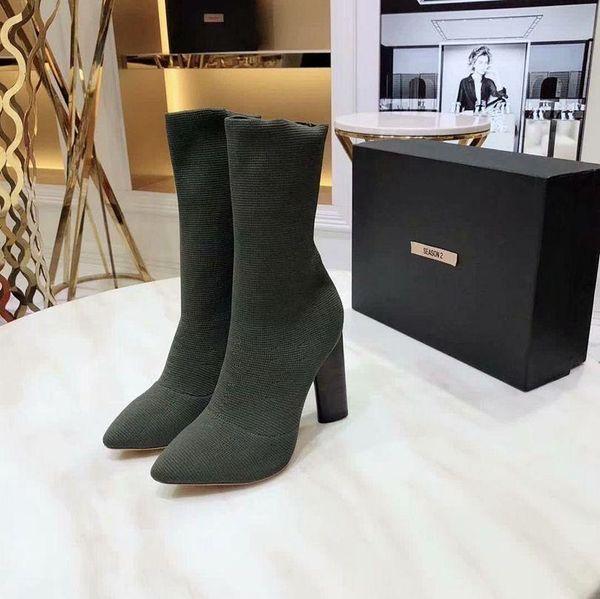 2019 Yeni Kadın Boots Bahar Moda Ücretsiz Kargo Boots Jeans Yuvarlak Kafa Güzel Topuk Yüksek Topuk Kısa Namlu Yan Fermuar Açık Burun Kore Stili