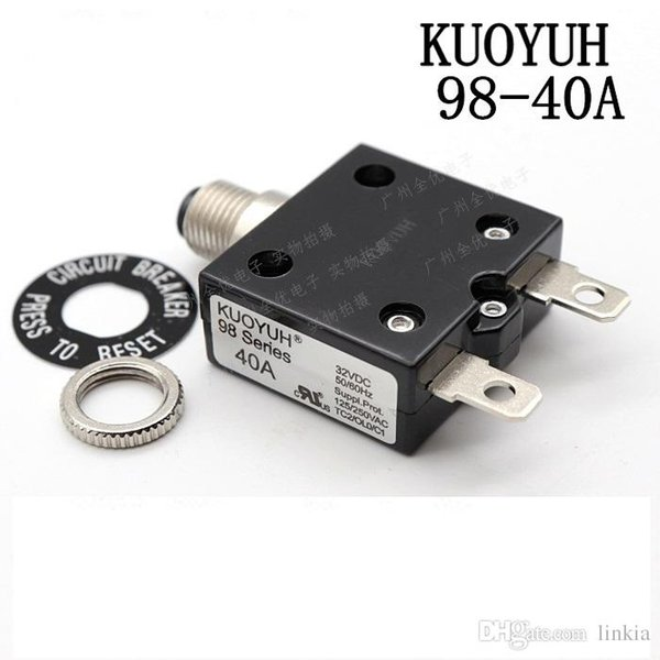 top popular Taiwan KUOYUH 98 Series-40A Overcurrent Protector Overload Switch 2021