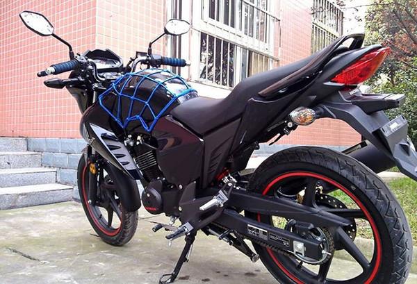 Motosiklet Bagaj Kargo Net Çanta Kask Gerdirilebilir Örgü Dekoratif Malzeme Taşıyıcı Deri Malzeme ile Ücretsiz Kargo Ücretsiz Kargo