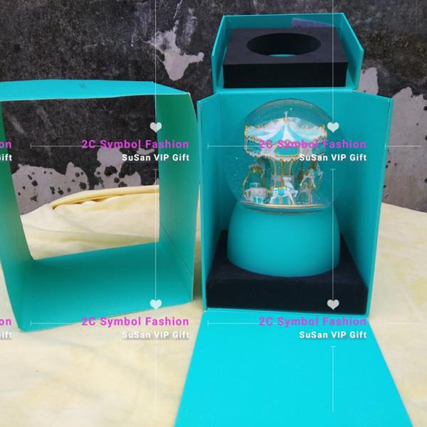 Para GF presente ~ Micical carrossel bola de cristal floco de neve de luxo t estilo fasihon item de coleta para casa ou loja decorar luxo globo de neve VIP