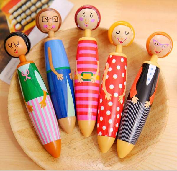 Kawaii Plastic Ink Erasable Gel Pen Cartoon Telescopic Doll Neutral Pens for School Writing Office Supplies Pen
