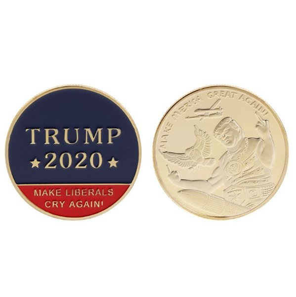 best selling 2020 Donald Trump Souvenir Coin Dollar Make America Great Again Metal Coins Figure Crafts America General Election Goods Product Sales E3409