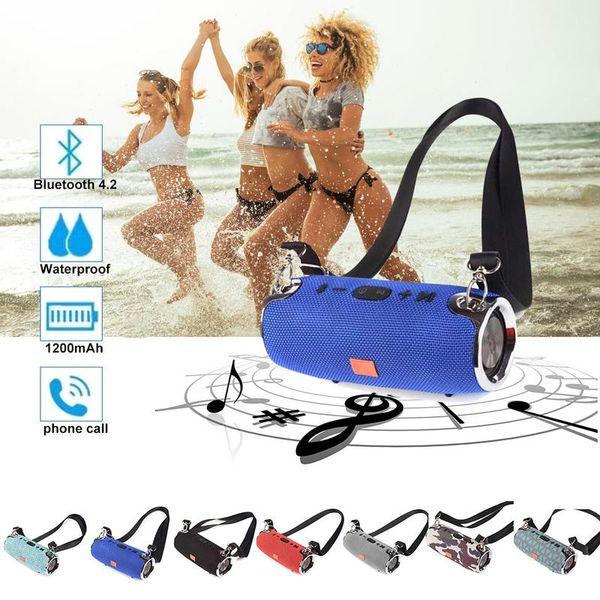 Mini Bluetooth 4.2 Speaker Small War Drum Music Wireless Speakers Portable Satchel Outdoor Sports Card USB Speaker Hand Free