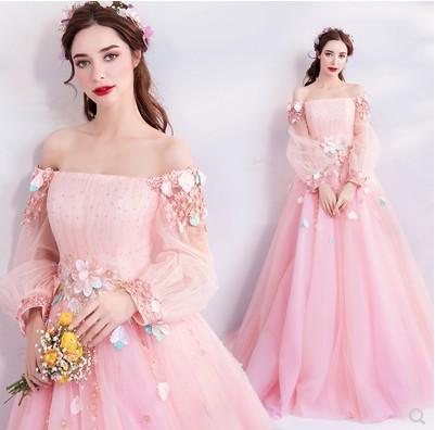 Nuovo arrivo Vendita calda Speciale Moda Passerella Annuale Incontro Abito elegante Fata Rosa Regina Perla Spettacolo Spettacolo Tidal Dress