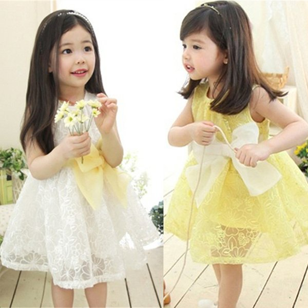 Летние девушки платья 2 цвета Мода без рукавов Принцесса платья Детская одежда дети дизайнер одежды девушки JY07