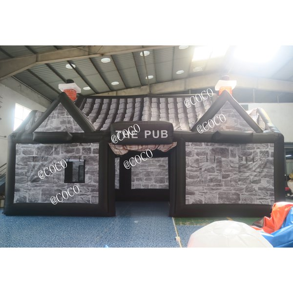 top popular 10*5*5mH large commercial inflatable irish pub tent,inflatable bar pub birthday party tent 2021