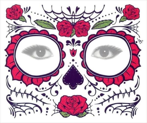 Gesichts-Aufkleber Magic Eye Gesicht Spitze-Art wasserdicht temporäre Tätowierung für Schönheit Make-up Bühne Halloween-Party
