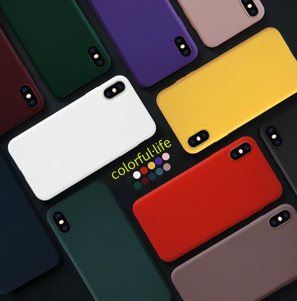 Presente de luxo matte cor sólida super fino bonito ultra fino de borracha de silicone macio tpu voltar case capa para apple iphone 6 s 7 8 plus x Xs max xr