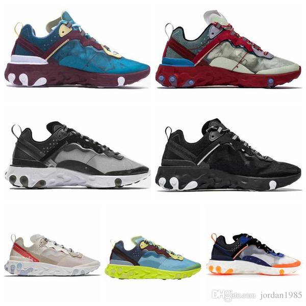 NREA87 2019 nuevo react element 87 Undercpver x Próximos hombres zapatos de mujer de diseñador de moda de lujo zapatillas deportivas zapatillas de deporte