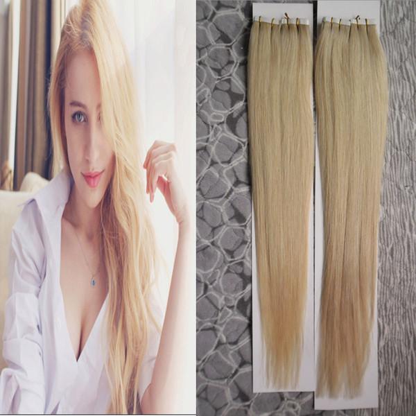 200 г кожи утка ленты наращивание волос 80 шт. / лот ленты в человеческих волосах бразильские прямые #613 отбеливатель светлые волосы продукты
