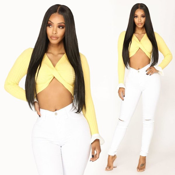 Lace front Synthetic Wigs Long Black Natural Straight Hair For Black Women Heat Resistant Cheap Full Lace Wig for Black Women High Quality