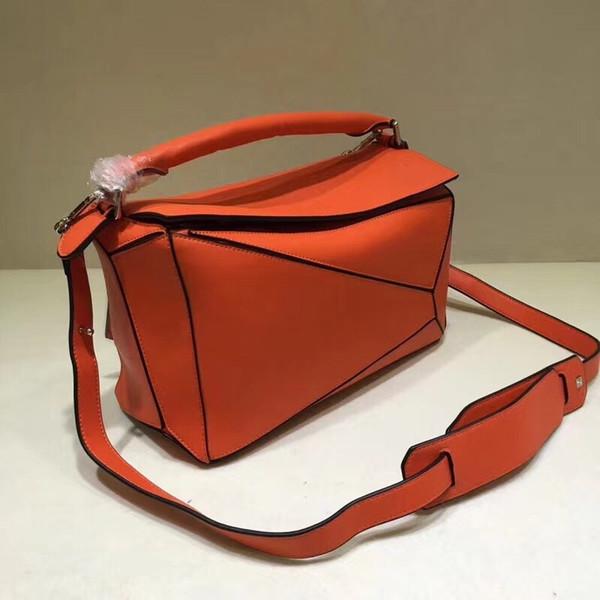 high quality 2019 new style fashion genuine leather puzzle bag women shoulder bag geometric handbag evening bag