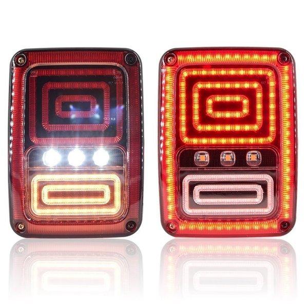 top popular Snake Style LED Brake Turn Signal Tail Light For Jeep Wrangler JK 2007 2008 2009 2010 2011 2012 2013 2014 2015 2016 2017 2021